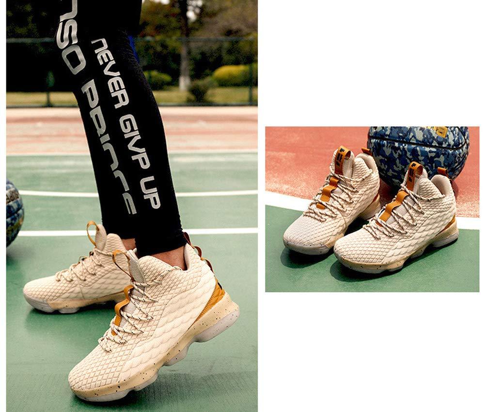 011292d39c97c9 JIYE MenXCHARXs Fashion Basketball Shoes WomenXCHARXs Breathable Flyknit  Sneakers,Gold,42EU=9US-