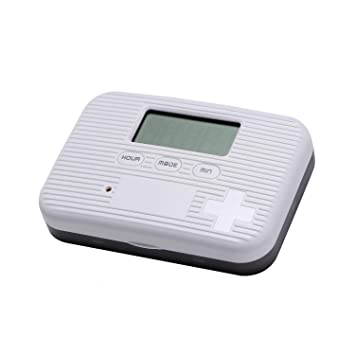 Sanp Pill Box Alarm Pill Organizer, Mini Portable Pocket Pill Case with Digital Alarm Clock Reminder for...