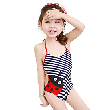 d72a2506 Amazon.com: Mukola Toddlers Ladybug Swimsuit One Piece Girls Bathing ...
