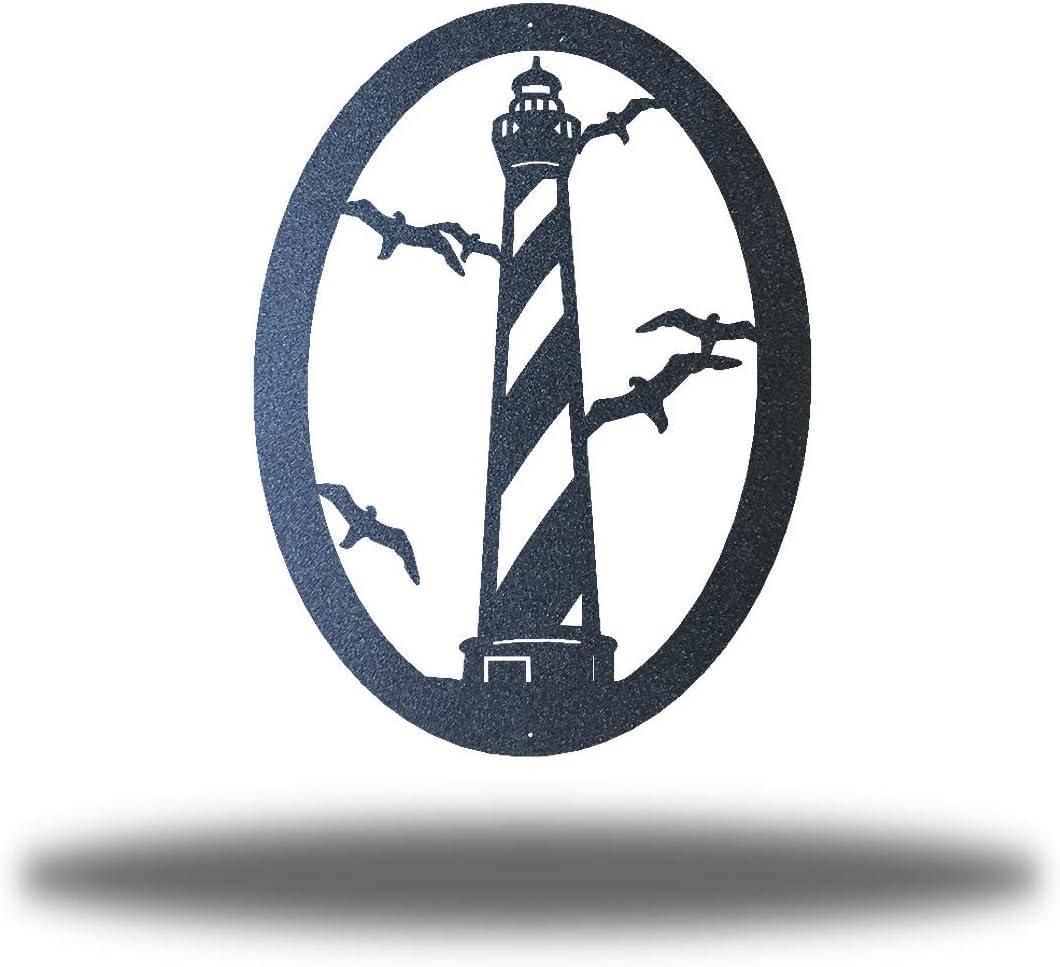 Riverside Designs Coastal Lighthouse Ocean Beach Metal Art Steel Wall Decor (30