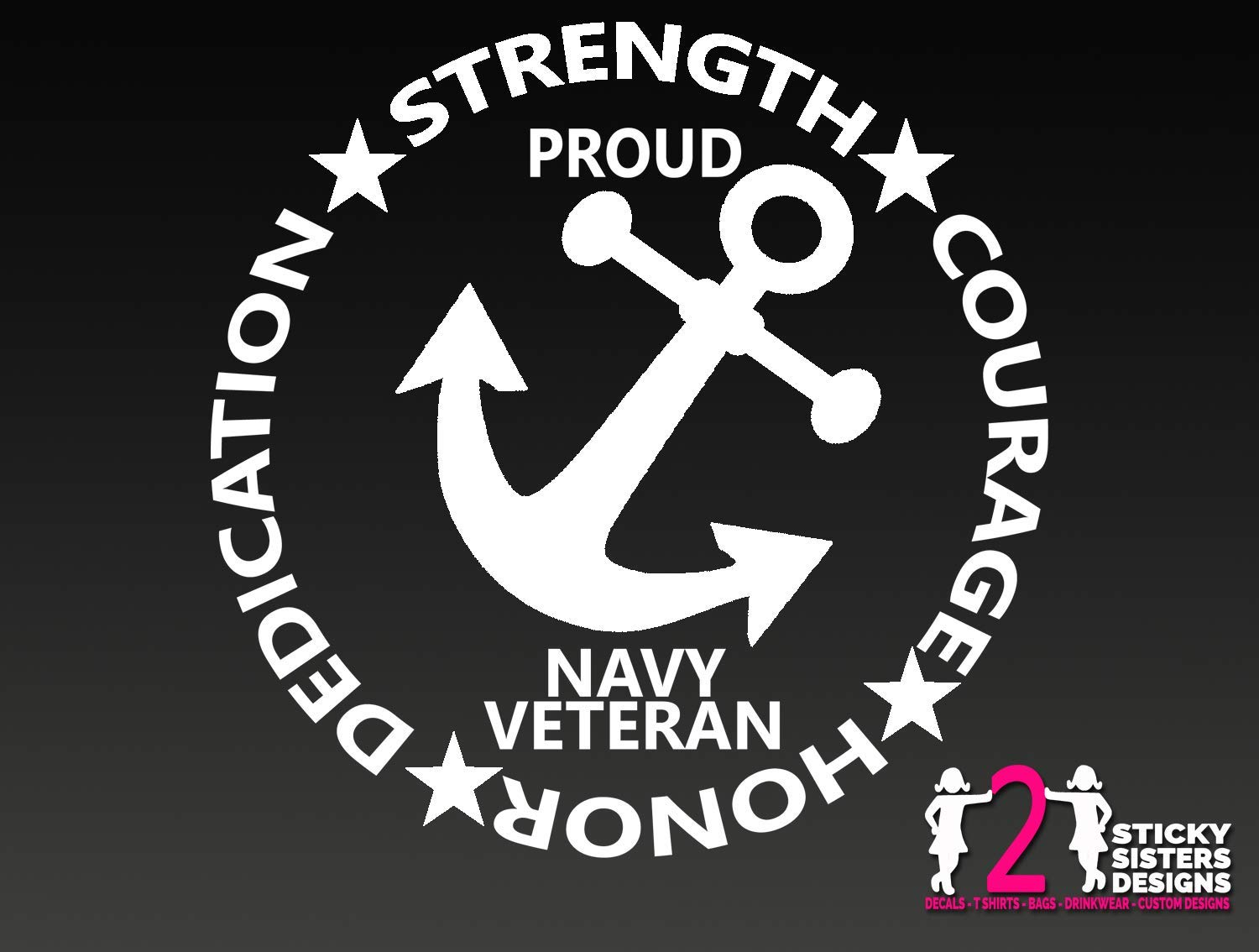 Proud Navy Veteran Military United States Solider Decal