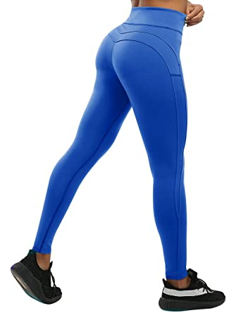 3ea5a752896d2 CHRLEISURE Yoga Pants for Women - High Waisted Leggings with Tummy Control,  Ruched Butt and
