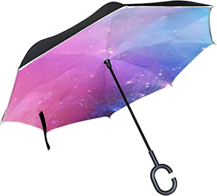 Double Layer Inverted Inverted Umbrella Is Light And Sturdy Bright Sunbeams Background Yellow Dots Abstract Reverse Umbrella And Windproof Umbrella E