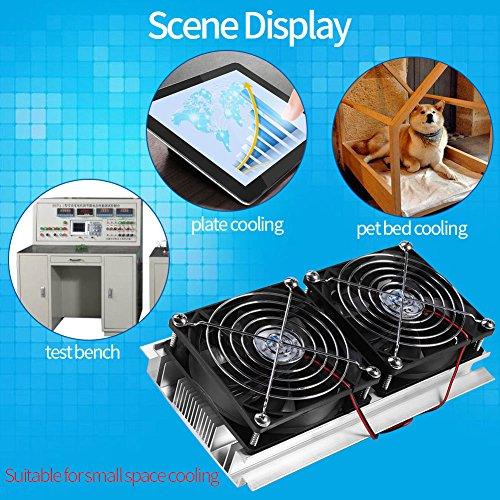Northbear Thermoelectric Peltier Refrigeration Cooling Cooler Fan System Heatsink Kit Cooler (2 Fan) by Northbear (Image #1)