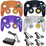 4 Controllers for Gamecube,with 4 Extension Cables and 4-Port USB Adapter for Switch PC Wii U Console (BPOS)