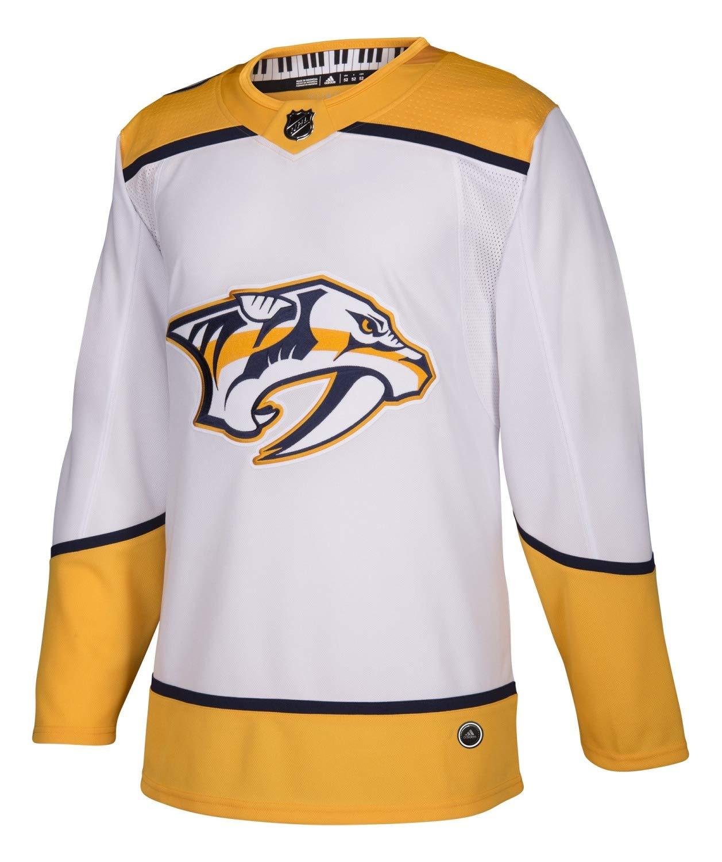 adidas Nashville Predators Road White NHL Men's Climalite Authentic Team Hockey Jersey (46 Small)