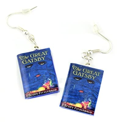 THE GREAT GATSBY F. Scott Fitzgerald Polymer Clay Mini Book Earrings by Book Beads ✯ OFFICIALLY LICENSED ✯ Hypoallergenic