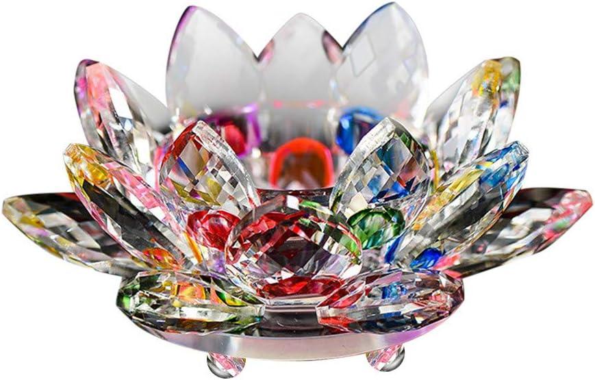 Blau Fenteer Lotus Kristall Glas Briefbeschwerer Tischdeko