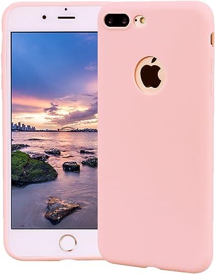 Funda iPhone 7 Plus, Carcasa iPhone 7 Plus Silicona Gel, OUJD Mate Case Ultra Delgado TPU Goma Flexible Cover para iPhone 7 Plus - Rosa: Amazon.es: Oficina y papelería