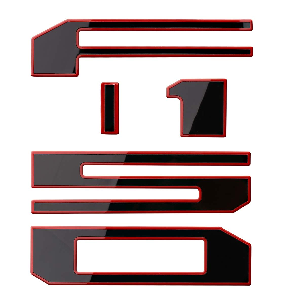 Tailgate Decal Letters for F150 2018 2019 Lawr Adhesive F150 Tailgate Insert Letters 3D F150 Emblem Chrome