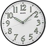 Seiko Wall Clock (29.5 cm x 29.5 cm x 4.8 cm, Black, QXA521KN)