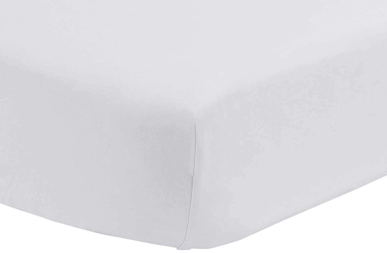 Pinzon 300 Thread Count Percale Fitted Mini Crib Sheet, Platinum AmazoBasics FTD-PLA-MINICR