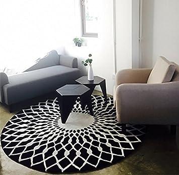 Amazon.de: Stylish schwarz-weiß rundes Wohnzimmer Couchtisch großer ...
