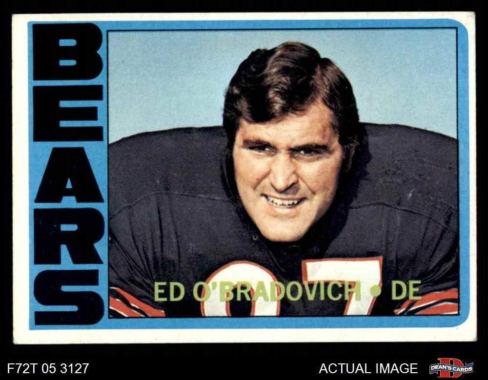 VG//EX Bears Illinois Football Card Deans Cards 4 1972 Topps # 197 Ed OBradovich Chicago Bears