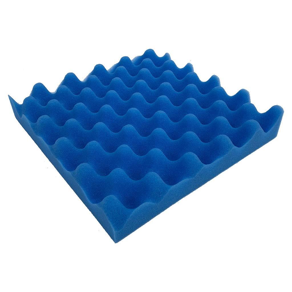 Efaster Soundproof Sponge Wall Sticker Acoustic Foam Panel Sound- Absorption Sponge Studio Egg Trough 25x25x4cm (blue)