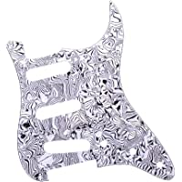 Homyl 3-Ply Electric Guitar Pickguard Scratch Plate SSS Protector for Stratocaster ST SQ Accessory - Black White