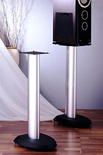 VTI VSP Series Speaker Stand Set of 2 -29 with Black Silver Poles – 29 with Black Silver Poles