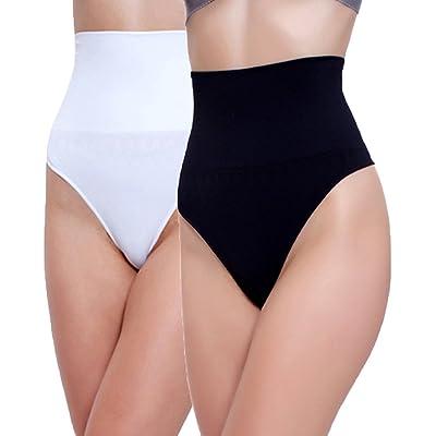 2 Unidades Libella Tanga String Body Faja Modeladora Reductora sin costuras para Mujeres 3601 Negro+Blanco 2XL: Ropa y accesorios