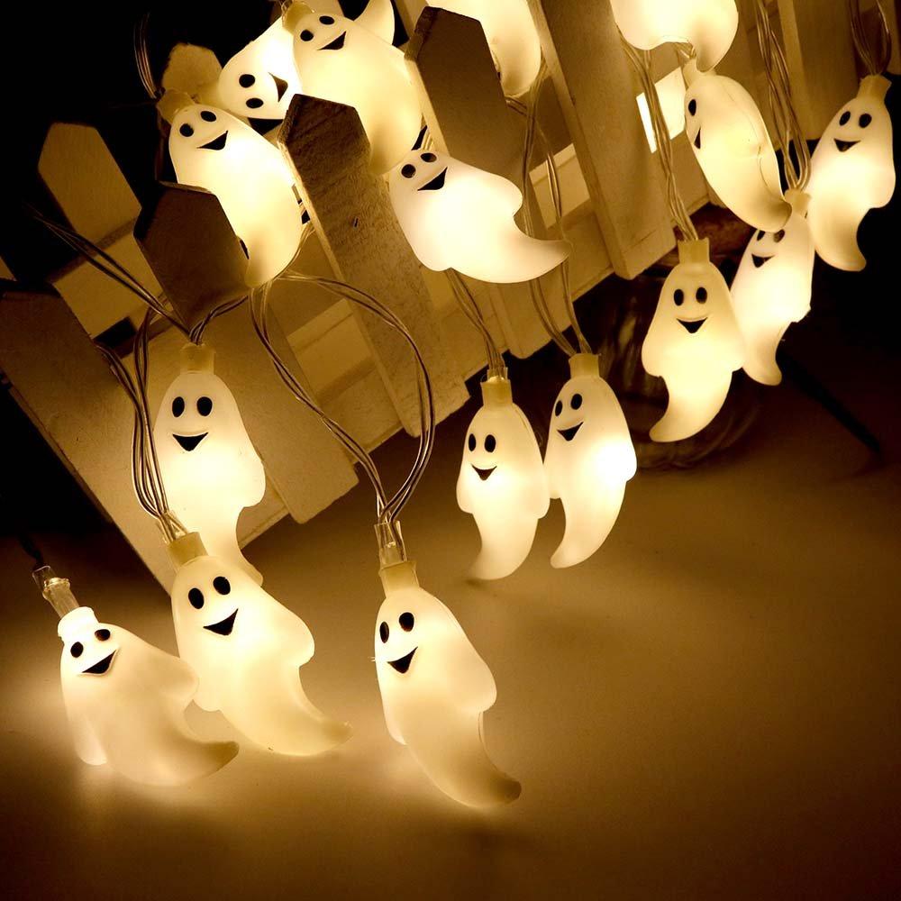 Halloween Lichterkette LED Schnurlicht 30 LEDs Kürbis Geist Licht ...