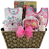 GreatArrivals Gift Baskets Baby's 1st Birthday, Girl, Large