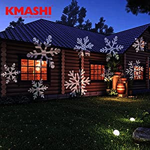 Xmas, 220V EU plug : Kmashi Christmas Light Project,Night Light Projector Snowflake Spotlight, Led Projector Lights outdoor lighting