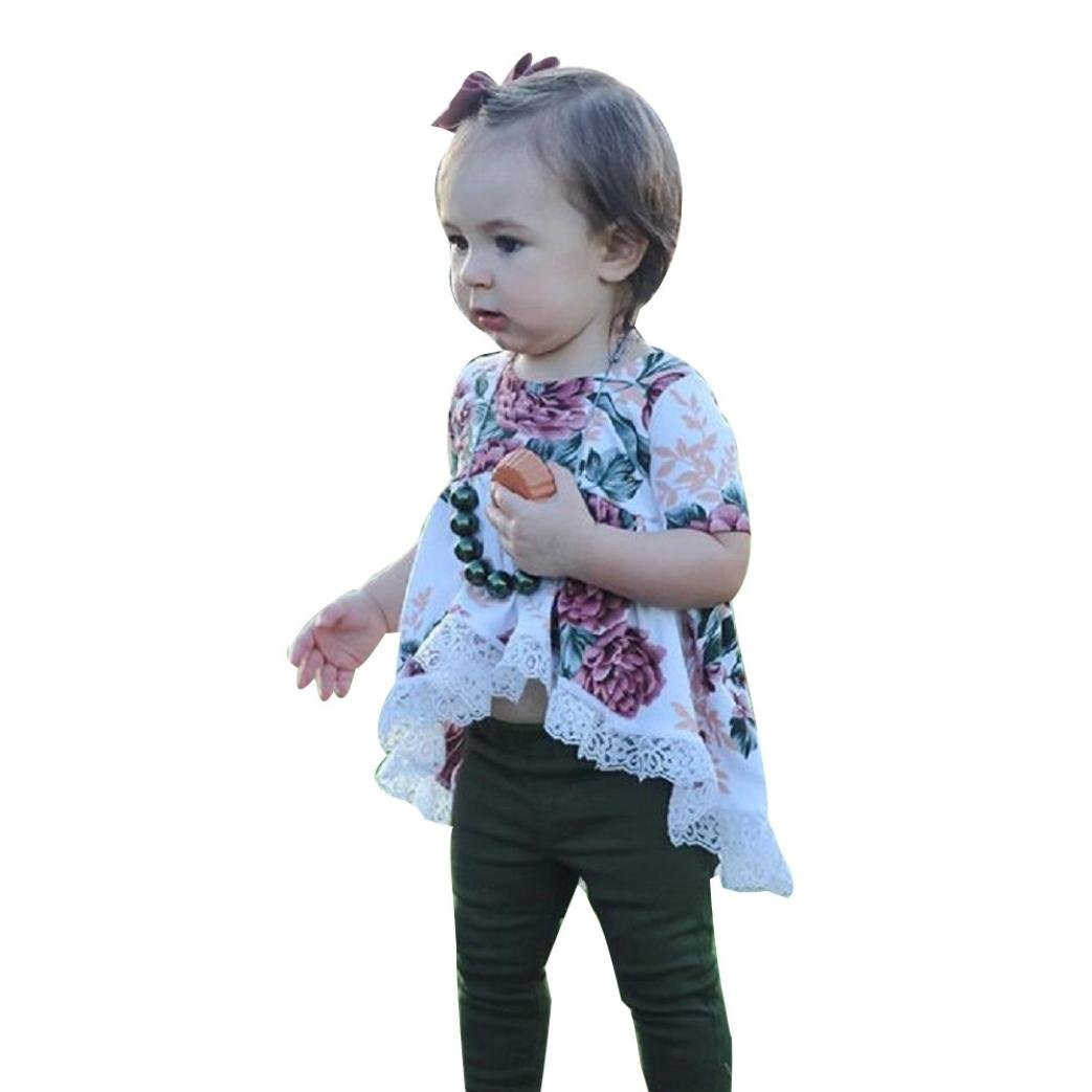 GBSELL Toddler Kids Baby Girls Summer Clothes Sunflowe Floral Dresses Party
