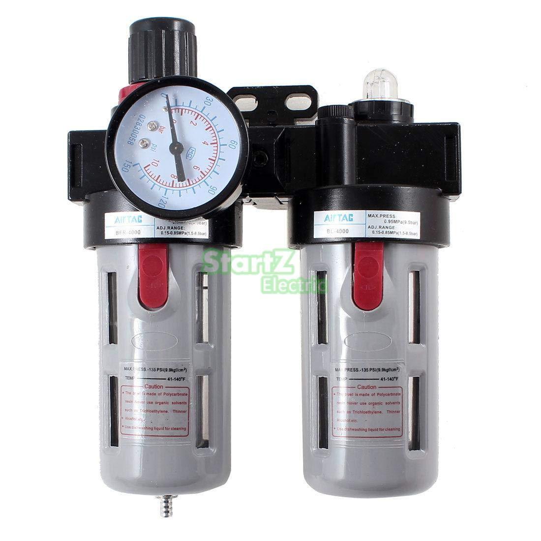 Fevas BFC4000 Air Source Treatment Filter Regulator Lubricator Combination