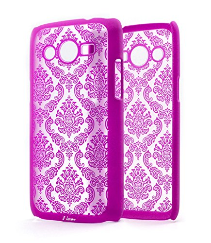 NageBee(TM) - Samsung Galaxy Avant G386 (T-Mobile) - Diva Lace Damask Design Ultra Slim Translucent Rubber Coating Hard Case (Lace Pink)