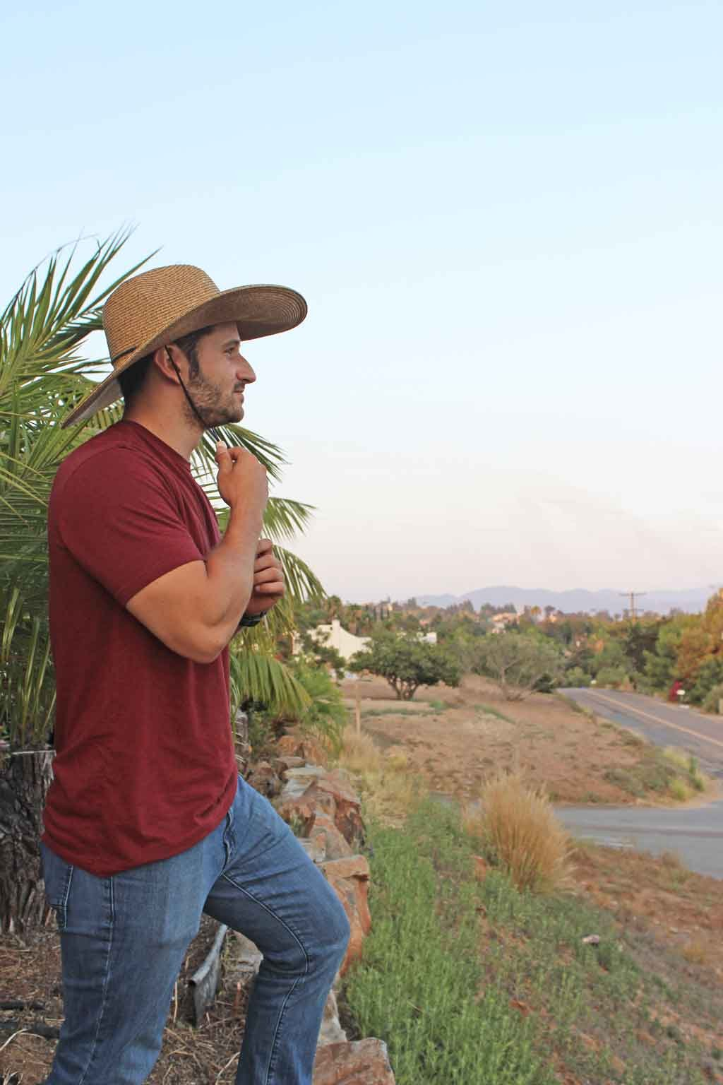 El Ranchero Extra Large Brim Straw Sun Hat for Men & Women with Chin Strap Fashionable & Perfect for Gardening Coffee (2XLarge) by sungrubbies (Image #3)
