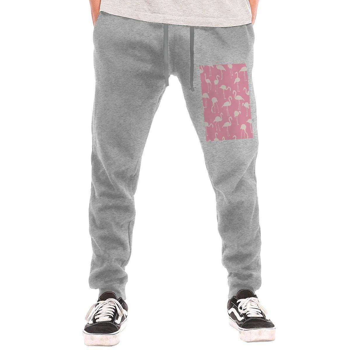 Flamingo Drawstring Waist,100/% Cotton,Elastic Waist Cuffed,Jogger Sweatpants