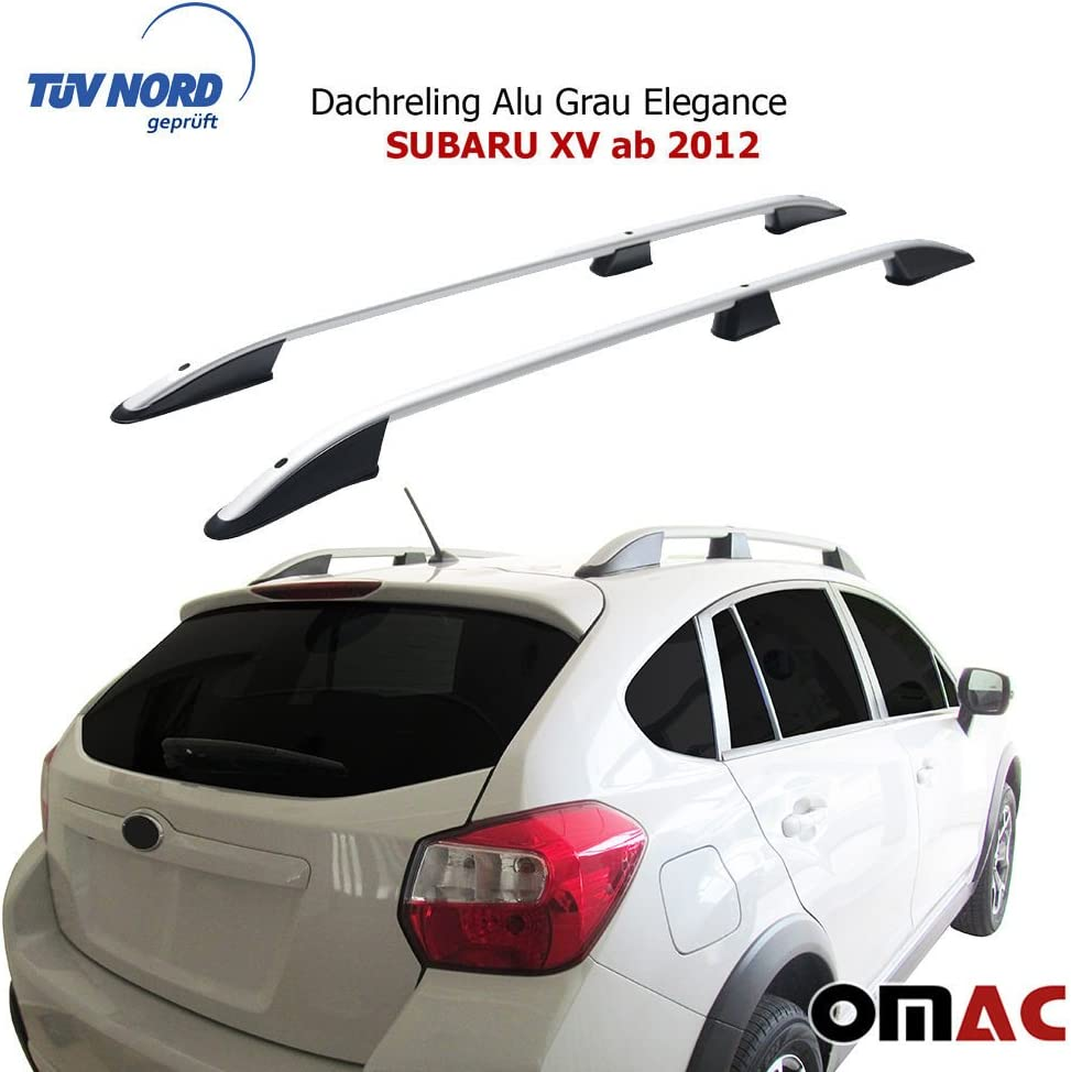 Für Subaru XV Dachträger Gepäckträger Alu Silber Relingträger TUV ABE ab 2012