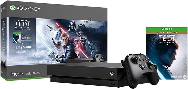Amazon.com: Xbox One X 1TB Console - Star Wars Jedi: Fallen ...