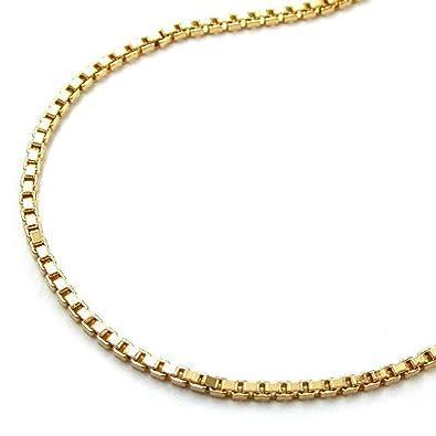 Collier Kette im Schlangen Design 40 cm 8 cm  x 1,10 mm  Carabiner  vergoldet