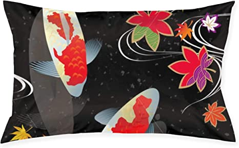 Amazon Com Hddcomg Japanese Koi Fish Throw Pillow Rectangle Decorative Cushion Bed Couch Sofa 20x30 Inch Home Kitchen