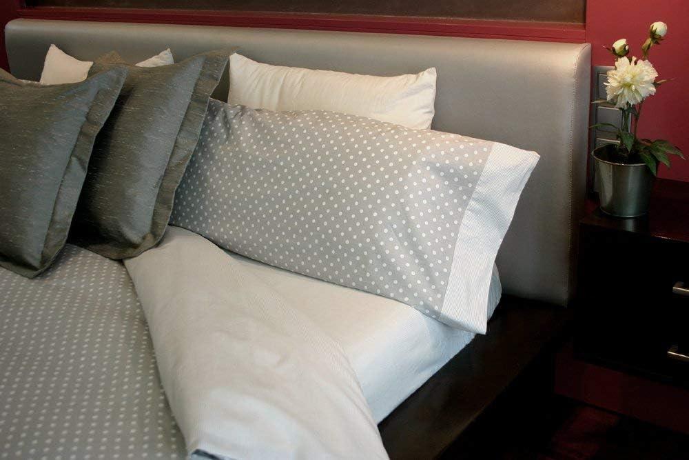 Juego de sábanas Algodón 100% DOTS GR (para cama de 150x190/200): Amazon.es: Hogar