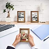 Emfogo 4x6 Picture Frame Photo Display for Tabletop Display Wall Mount Solid Wood High Definition Glass Photo Frame Pack of 2
