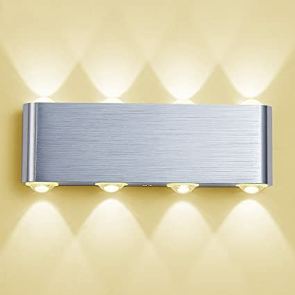 9004f9aed9d4 PHOEWON 8W LED Wall Light, Modern Led Wall Sconce Lights Aluminium Spot  Light Night Lamp
