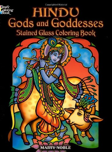 Hindu Gods and Goddesses Stained Glass Coloring Book (Dover Stained Glass Coloring Book)