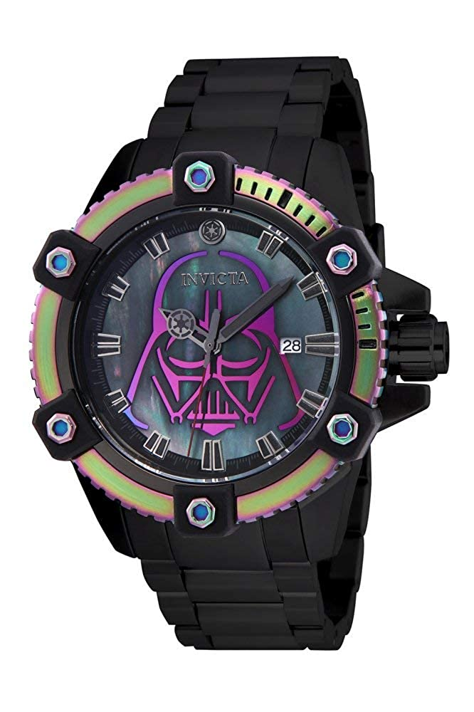 Invicta Men s Star Wars Automatic-self-Wind Watch with Stainless-Steel Strap, Black, 24 Model 26558