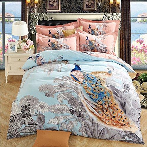 DHWM-Cotton 4 piece set, double bed, cotton sheets, Home Bedding Set 4 Piece ,1.5m