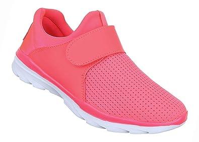 Damen Schuhe Freizeitschuhe Sportschuhe mit Klett Schwarz