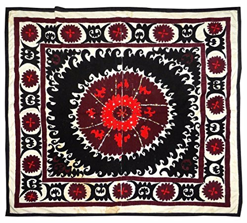 old bold abstract uzbek handmade embroidery samarkand suzani bolinpush - Method Payment Discover
