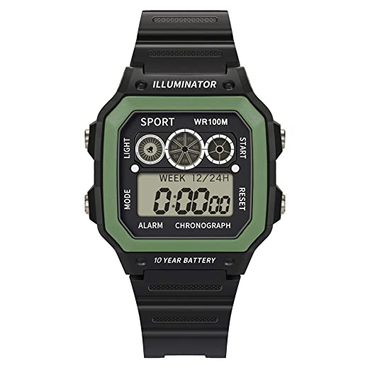 BBestseller Digital Reloj Deportivo,Moda Relojes de Pulsera para Hombres Deportivos LED Reloj de Pulsera