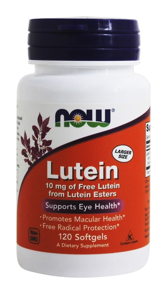 NOW Foods Lutein 10 mg Softgels, 2-PACK