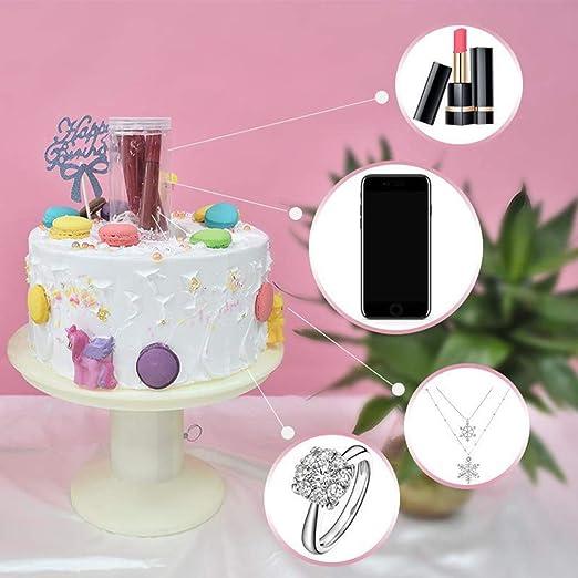 Soporte para tartas sorpresa, pastel de feliz cumpleaños, tarta 2 en 1 con caja de música, herramienta de tortas de disparo: Amazon.es: Hogar