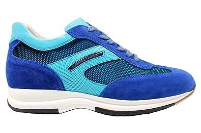 CRISTIANO GUALTIERI 458 Azzurro Sneakers Scarpe Uomo Casual
