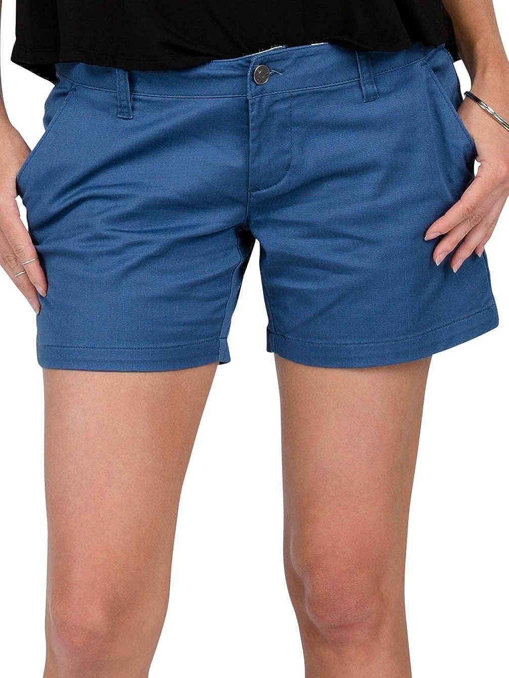 TALLA 31. Volcom Froch ickie Midi Short Azul Pantalones Cortos para