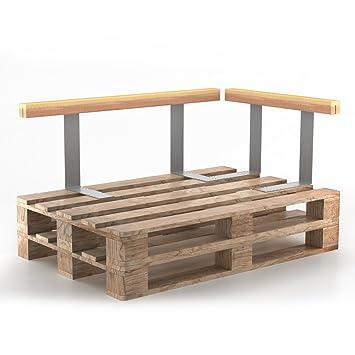 Vicco Set Holzlehne Lehne für Palettenkissen 110cm & 70cm Rückenlehne Palettenlehne Seitenlehne Palettensofalehne Palettenpol