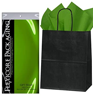Amazon.com: Flexicore Packaging® Bolsas de papel kraft negro ...