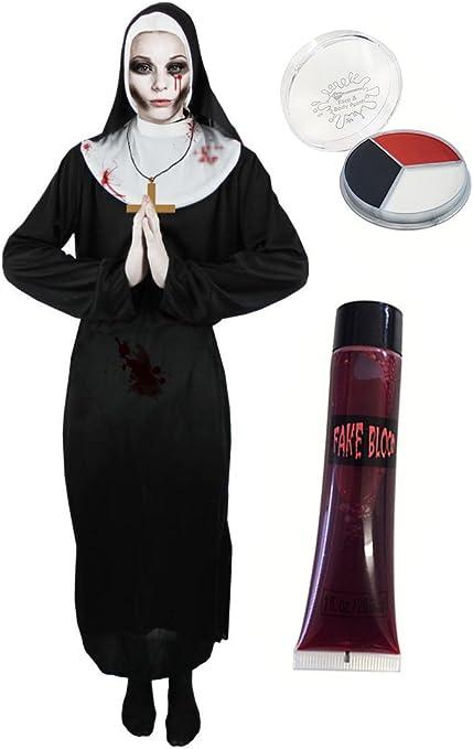 ILOVEFANCYDRESS - Disfraz de monja zombie para mujer (talla S - XL ...